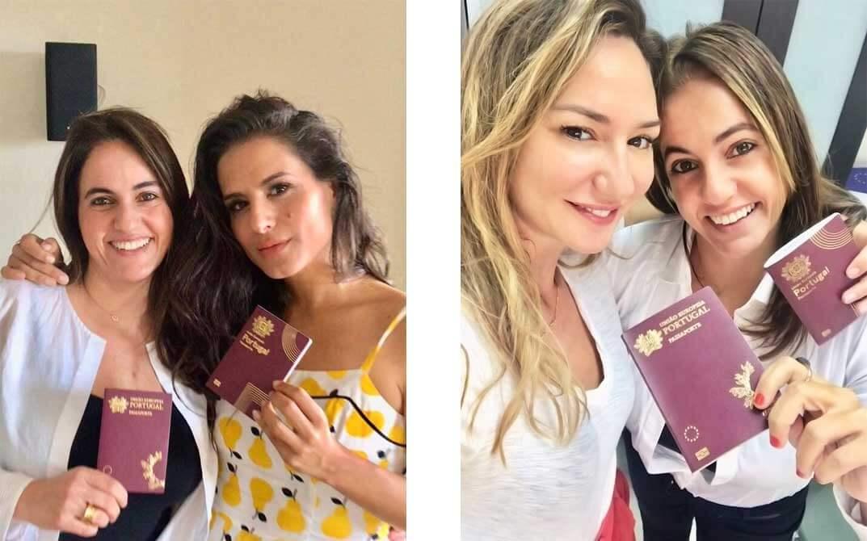 מיכל אנסקי ומירי מסיקה מקבלות דרכון פורטוגלי ממירב תותי אשבל
